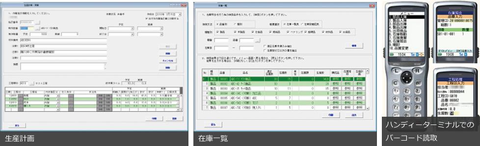 部品メーカー向け在庫・生産管理システム